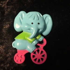 Vintage Avon Elephant on a Bicycle Pin